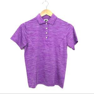Footjoy Purple Short Sleeve Polo Shirt Golf XS A4